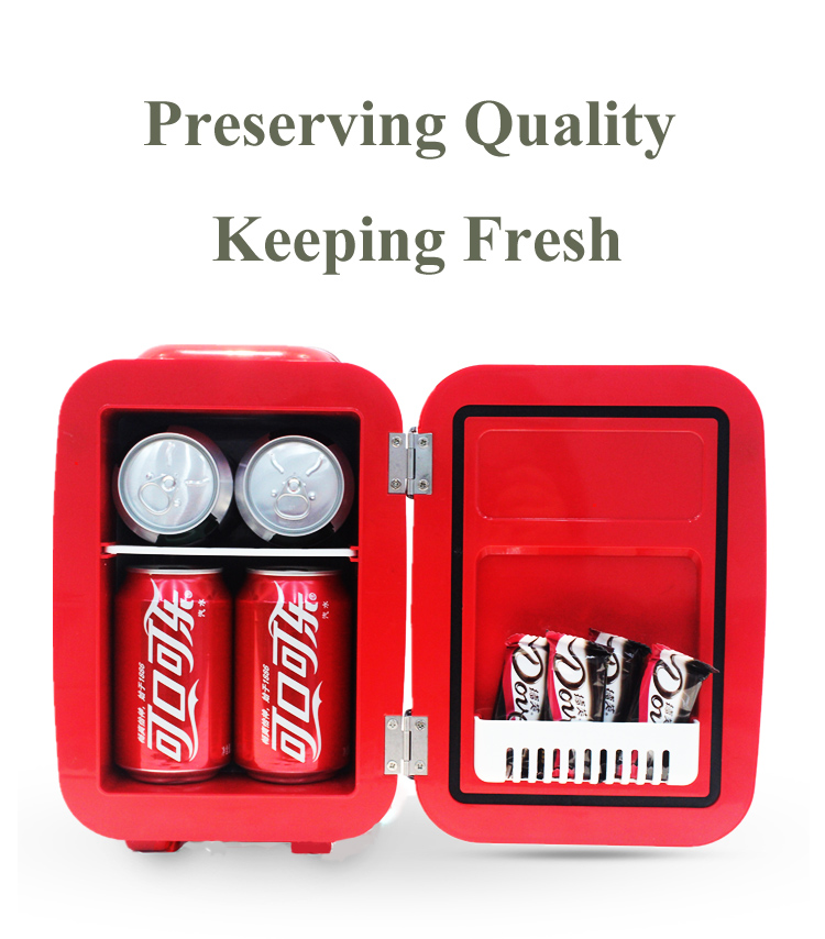 12v car freezer 4L New Arrival good quality hotel home coca mini fridge for car and household hotel