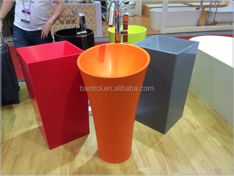Good Price Free Standing Bathroom Sink/stand Alone Sinks/colored ...