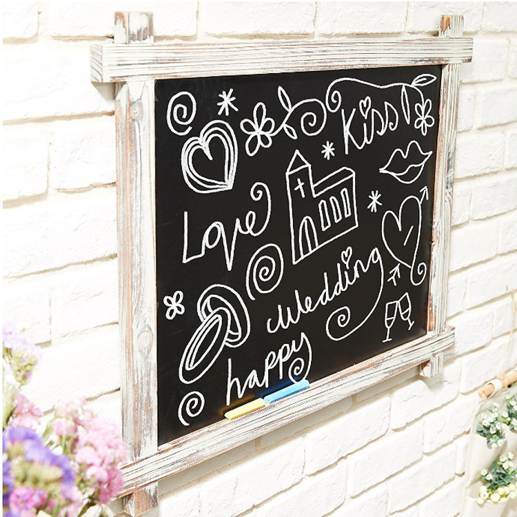 Custom Handmade Wood Frame Chalkboard with Menu