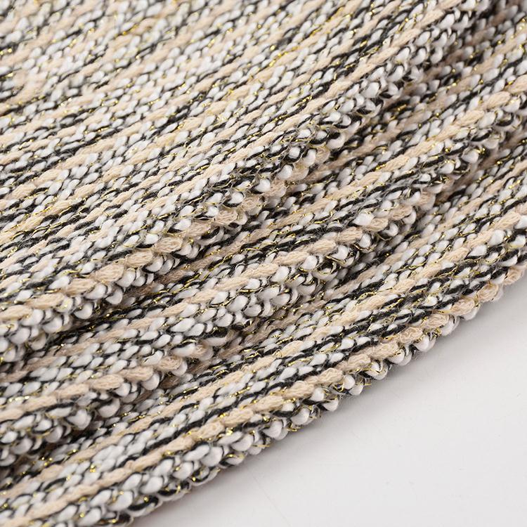 2021 hot selling alibaba supplier custom  knitted gold metallic lurex tinsel fabric