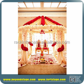 Indian Wedding Mandap Designs Flower Wall Backdrop For Wedding