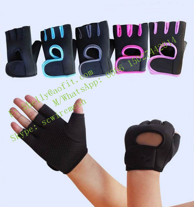 Non Slip Gym Fingerless Gloves Fitness Training Gloves Custom Weighted Workout Gym Gloves for Women
