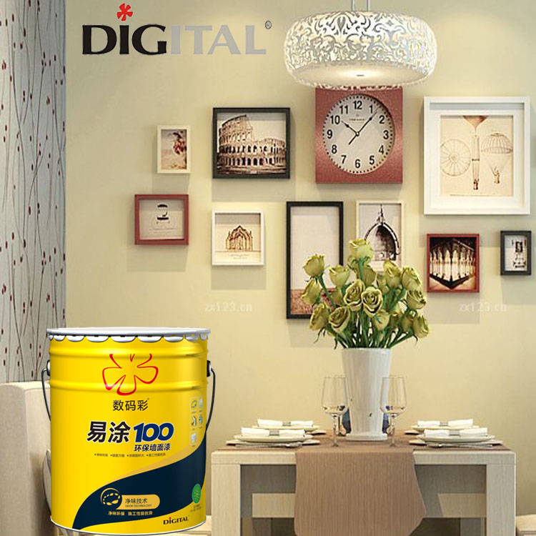 Environmental friendly interior water resistant wall paint