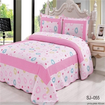 Custom Printed Handmade Colorful Flower Cotton Microfiber Bed Sheet  Patchwork Quilt