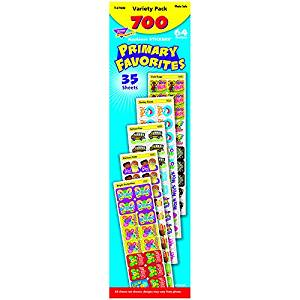 Trend Enterprises Primary Favorites Applause Stickers Variety Pack, 700 per Package (T-47909)