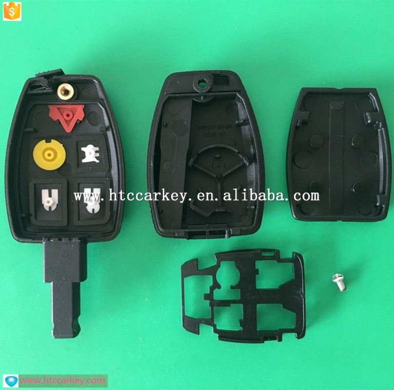 Best quality car key cover for volv 5 Button Remote Key Shell