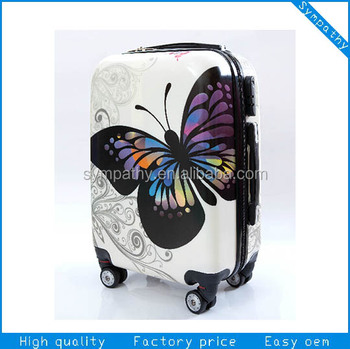 Polycarbonate Suitcase /printed Hard Shell Luggage /scooter ...