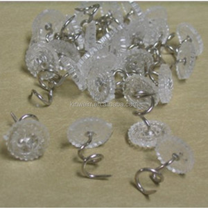 Clear plastic head small twist carpet pins for for upholstery with nickel plated