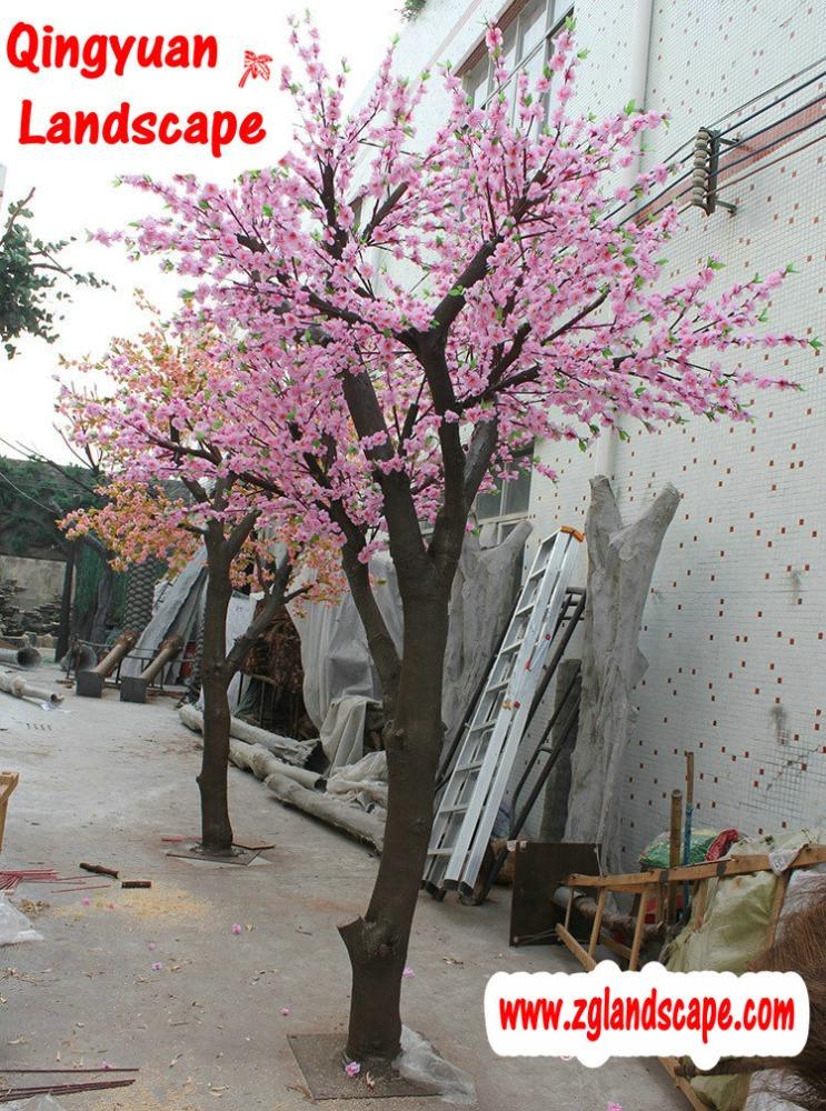 Shengyuan artificielle peach blossom arbre artifiical for Arbre artificiel pour interieur