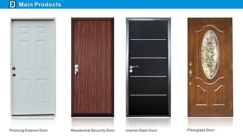 Fangda 36 In X 80 In Premium 6 Panel Primed Steel Front Door Slab
