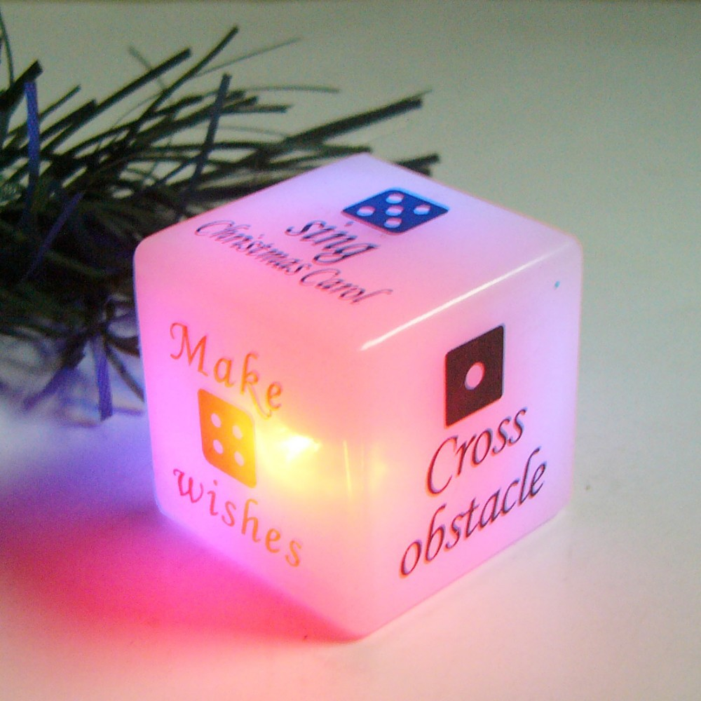 Flashing Party Dice Suppliers And Manufacturers Motion Activated Led At