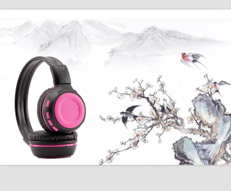 Good quality and colorful SD card insert wireless folding sports headband BT headphone headset