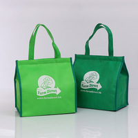 green non woven hot thermal aluminum foil liner cooler bags