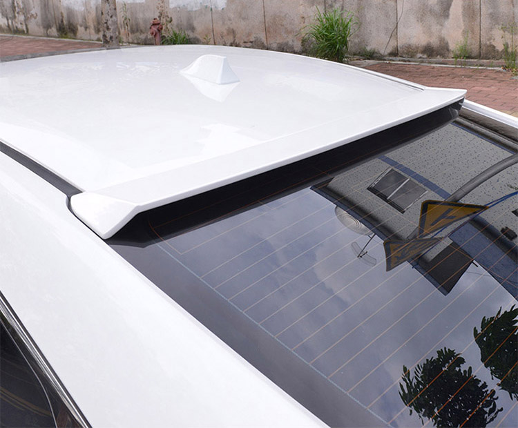 Para CRV coche accesorios de plástico ABS trasera maletero Spoiler de techo 12-16