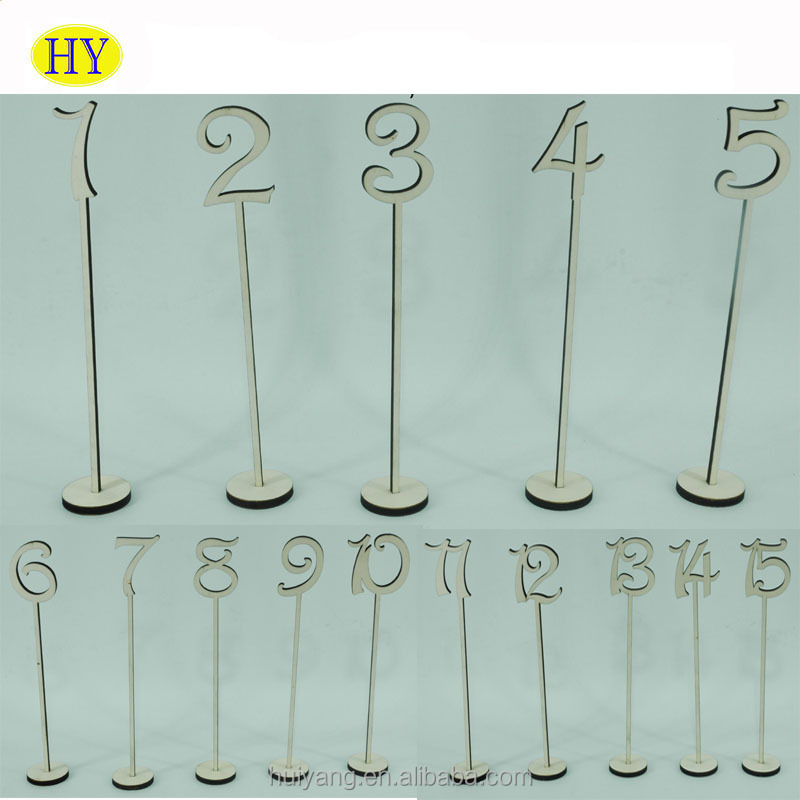 Wholesale Unfinished 1-25 Wood Table Numbers Wedding