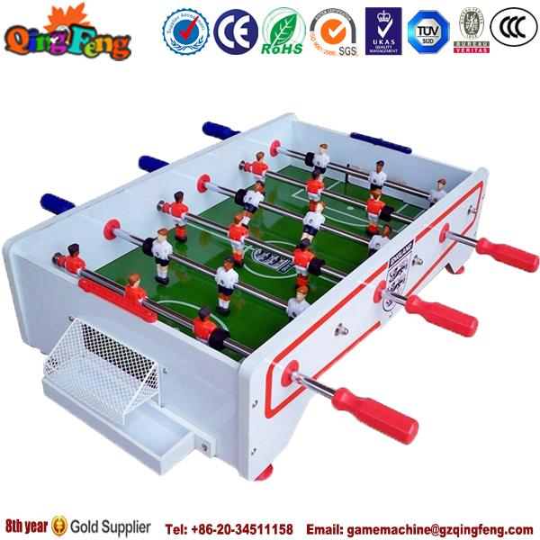 Qingfeng Madera Futbolin Equipo Mini Mesa De Juego De Futbol Para 2