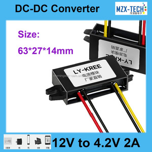 DC-DC converter DC12V to DC 4.2v 2A 9W step-down module 6-22v to 4.2v buck power supply for solar panel