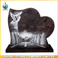 Haobo Hot Sale Natural Granite Funeral Memorial Plaques