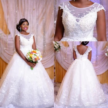 H053 New Custom Made Black Girls Ball Gown Wedding Dress Luxury Pearls  African Bridal Wedding Gowns , Buy Custom Made African Wedding  Dresses,Latest