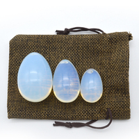 hot selling Opal quartz jade egg 3 pieces in a set yoni egg