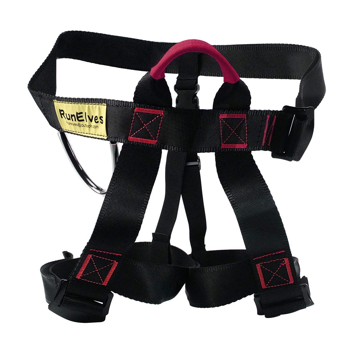 Climbing Harness,Thicken Protect Waist Leg,Tree Arborist Climbing Safety Harness, Wider Seat Belts for Professional Mountain Fire Rescue,Rock Climbing Rappelling,Half Body Harness for Women Man Kids