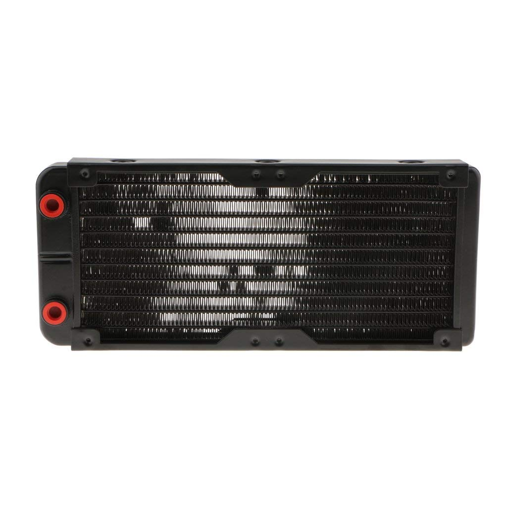 Flameer 240mm Radiator Aluminum 30mm Thick G1/4 Treaded For Computer Liquid Cooling