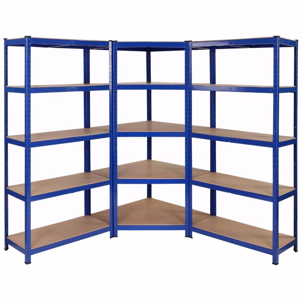 Metal Garage Racking Shelving Warehouse 5 Tier Storage Unit Shelf Heavy Duty US
