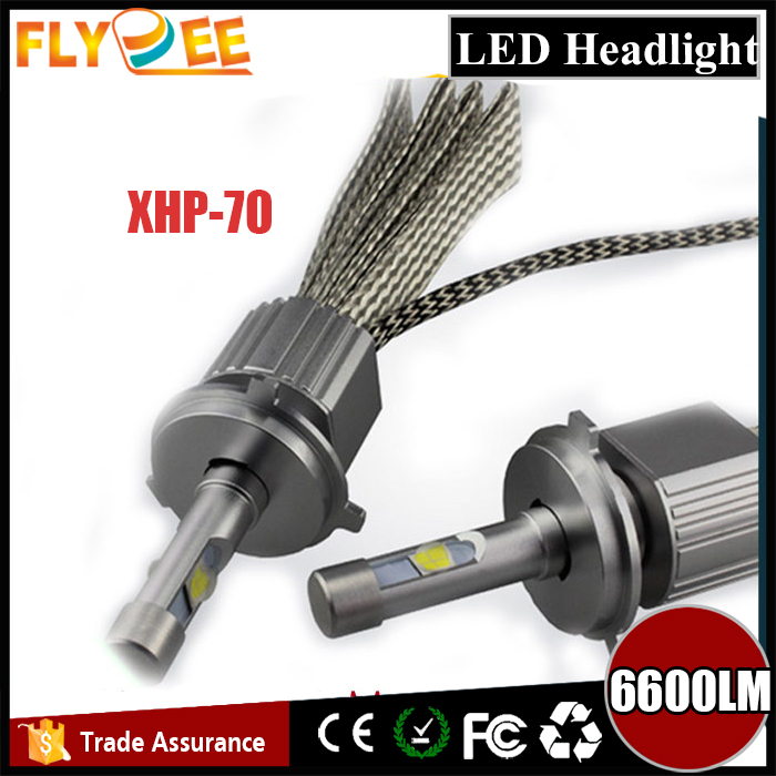 Flydee super power 55W 6600LM CREEs xhp70 L7 LED Headlight H4 H7 H11 HB3 9005 9006