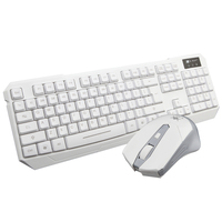 Ergonomic Ultra Slim Brushed Wireless Keyboard and Mouse Combo 2.4GHz Long Battery Life All Systems Compatible