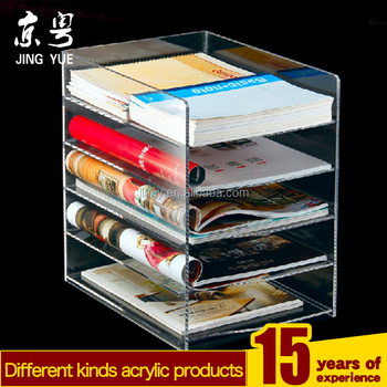 Excellent Design Handmade Clear Acrylic Bookcase Acrylic Book