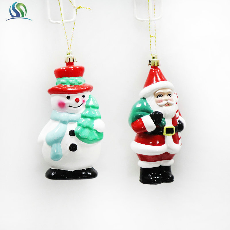 Glass Drop String Hanging Snowman Christmas Old Man Ornaments Festival Decoration Kids Gifts