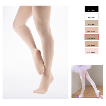 e5c375cce7915 BT00006 Wholesale Free Sample Full Footed White Ballet Pink Stockings  Children Dance Tights