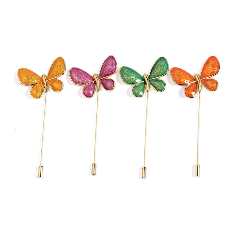 Alibaba.com / Custom Pin Insect Pins Orange Bright Color Enamel Butterfly Brooch