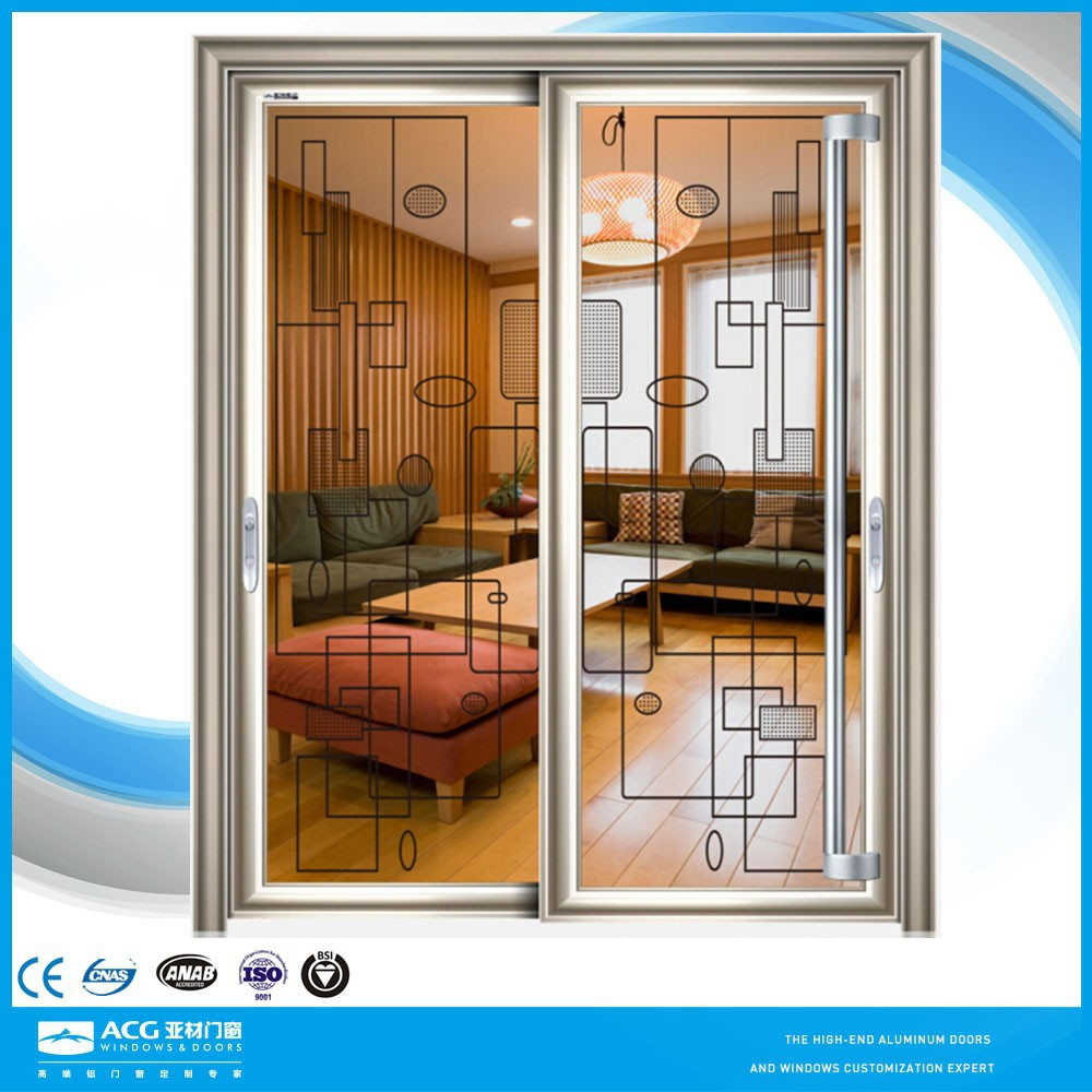 Sliding Door Frosted Glass Exterior One Way