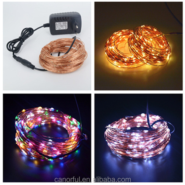 free samples factory manufacture christmas outdoor led copper wire string lights