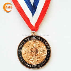 zinc alloy material and customized circle/round metal award medal