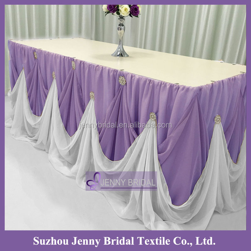Charmant Tc106k Fabrics Chiffon Table Skirting Designs For Wedding   Buy Table  Skirting Designs,Table Skirting Designs For Wedding,Fabrics Chiffon Product  On ...