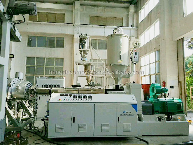 PVC PE plastic electric wiring conduit / water supply drainage pipe extrusion making machine