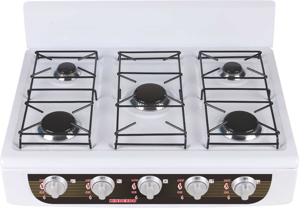 desk type cooker range 5 burner smokeless cooker range
