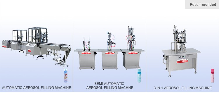 Semi automatic bag on valve aerosol filling and sealing machine
