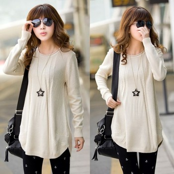 New Style Women Ladies Loose Long Sleeve Knit Pullover Cardigan ...
