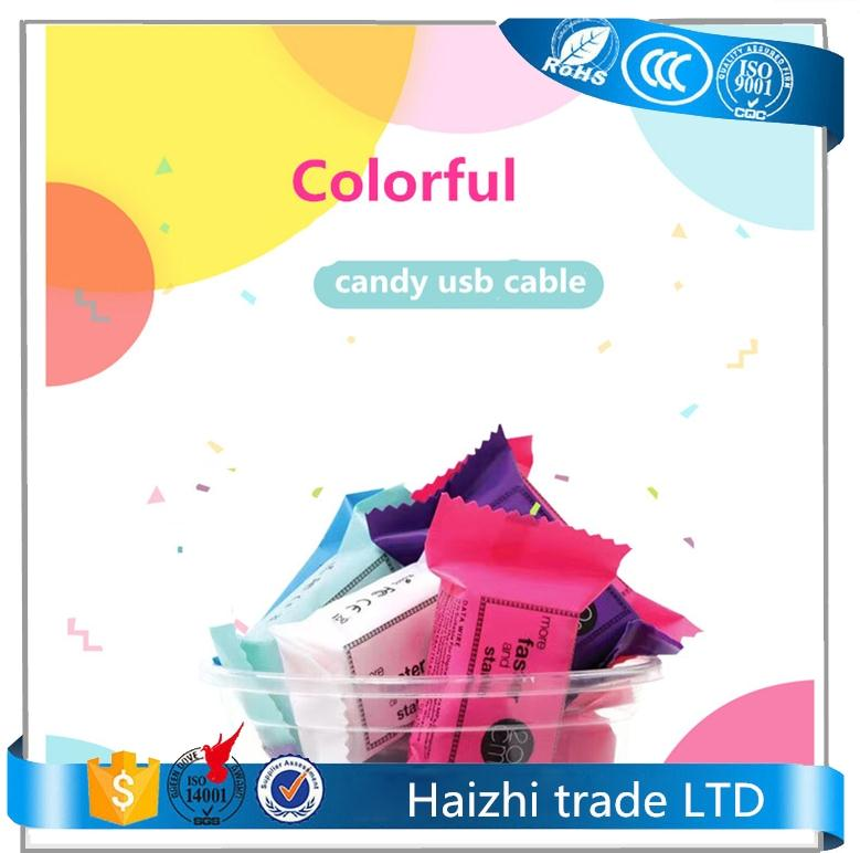 candy usb cable,v8 data cable 20cm micro usb cable