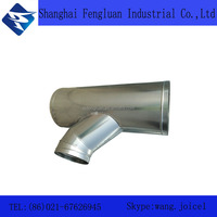 Galvanized Steel tee for air ductwork accessories hvac damper and air conditioning parts flexible air ducting fitting