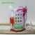 reusable outdoor Eco-friendly food grade doypack bottle shaped cartoon design foldable plastic drink water bottle with carabiner