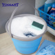 10L fashion plastic collapsible bucket,houseware folding water bucket,foldable round water bucket