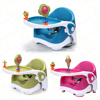 2017 New Design Multi Function Hot Selling Plastic Folding Baby Booster Seat/  Dining Chair