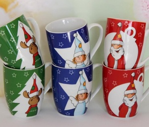 300 ml colour glazed ceramic mug porcelain coffee cup bone china christmas tea cup OEM ODM promotion mug 11oz
