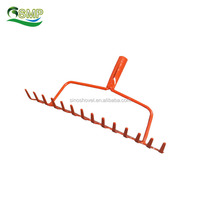 22 tines garden mini hand harrow hay bamboo leaf plastic rake with long handle