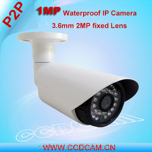 720P HD 1.0 Megapixel 1.0MP IP Camera w/ Audio USB Storage Waterproof Bullet Network Remote View Camera