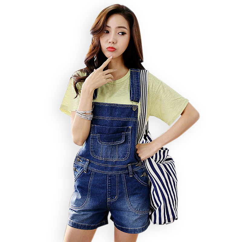 2904f3e388d Buy Rompers Womens Loose Vintage Denim Jumpsuit Ladies Short Length Jeans  Jumpsuits 2015 Summer Casual Overalls Macacao Feminino in Cheap Price on ...